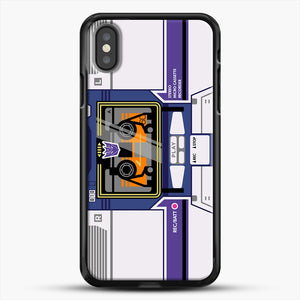 Soundwave iPhone X Case, Black Rubber Case | JoeYellow.com