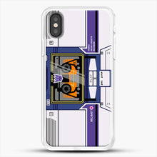 Load image into Gallery viewer, Soundwave iPhone X Case, White Rubber Case | JoeYellow.com