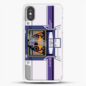 Soundwave iPhone X Case, White Rubber Case | JoeYellow.com