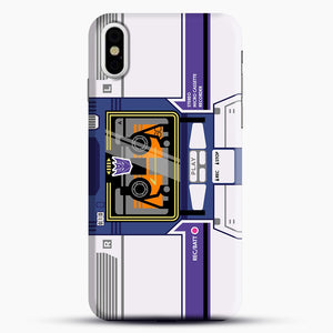 Soundwave iPhone X Case, Black Snap 3D Case | JoeYellow.com