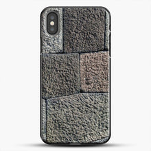 Load image into Gallery viewer, Stone Floor Pattern iPhone Case, Black Plastic Case | JoeYellow.com