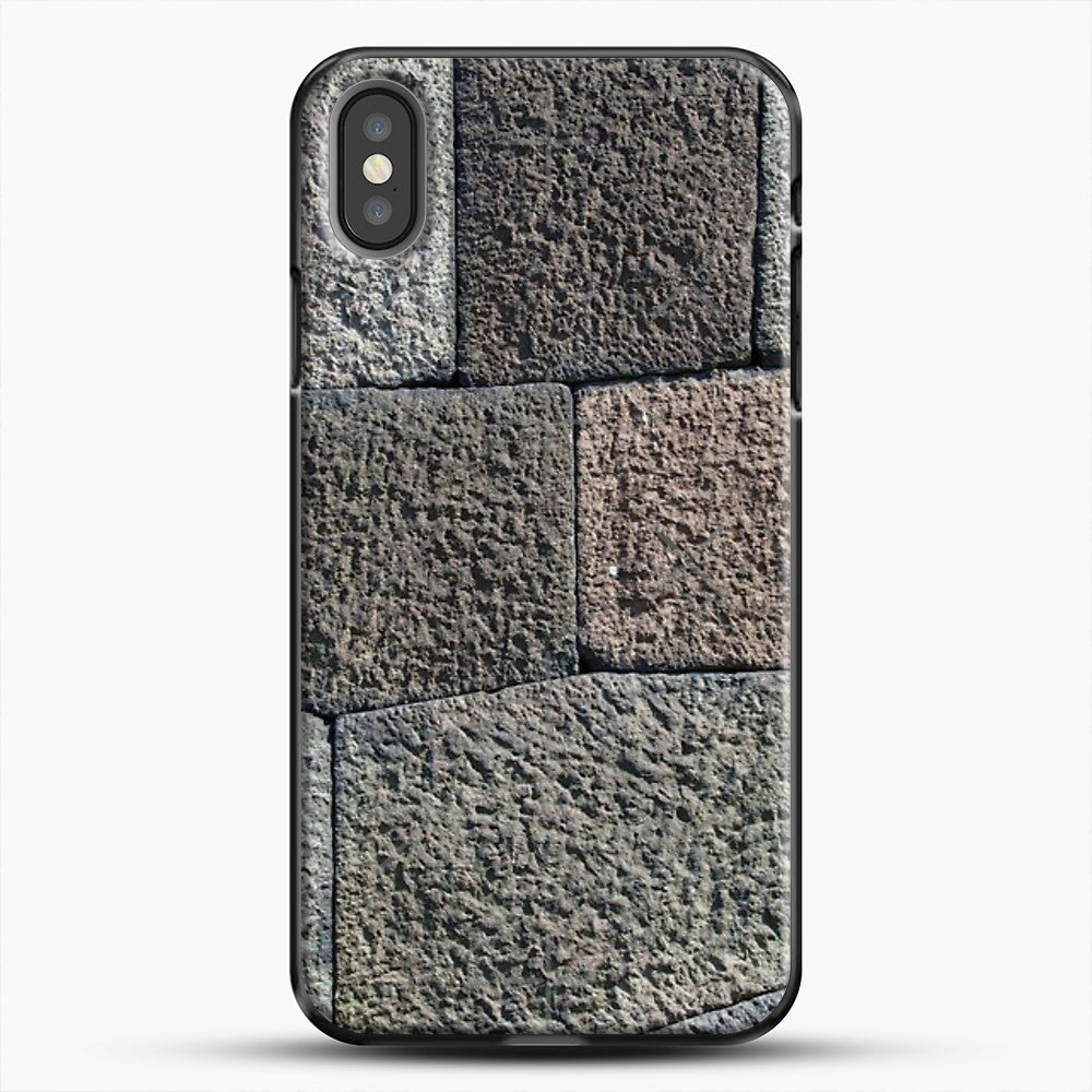 Stone Floor Pattern iPhone Case, Black Plastic Case | JoeYellow.com