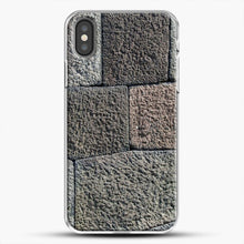 Load image into Gallery viewer, Stone Floor Pattern iPhone Case, White Plastic Case | JoeYellow.com