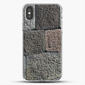 Stone Floor Pattern iPhone Case, White Plastic Case | JoeYellow.com
