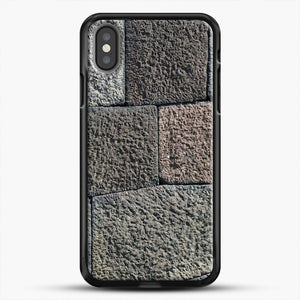 Stone Floor Pattern iPhone Case, Black Rubber Case | JoeYellow.com