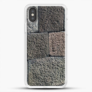 Stone Floor Pattern iPhone Case, White Rubber Case | JoeYellow.com