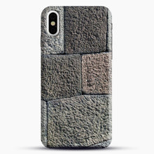 Load image into Gallery viewer, Stone Floor Pattern iPhone Case, Black Snap 3D Case | JoeYellow.com