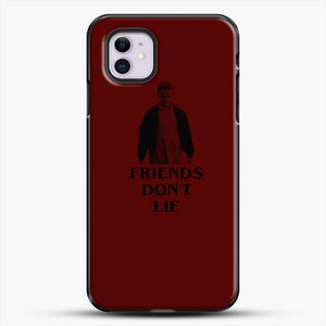 Stranger Things Eleven Red Backgrond iPhone 11 Case, Black Plastic Case | JoeYellow.com