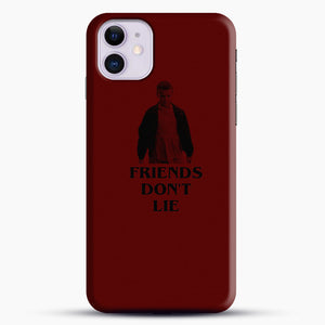 Stranger Things Eleven Red Backgrond iPhone 11 Case, Black Snap 3D Case | JoeYellow.com