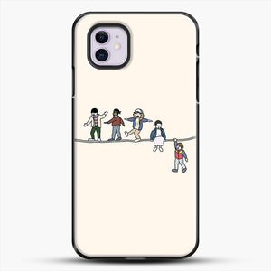 Stranger Things The Acrobats And The Fleas iPhone 11 Case, Black Plastic Case | JoeYellow.com