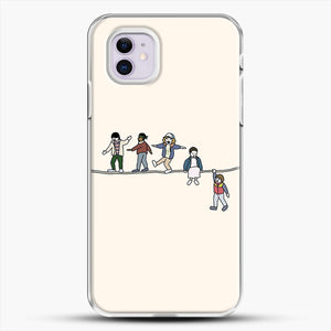 Stranger Things The Acrobats And The Fleas iPhone 11 Case, White Plastic Case | JoeYellow.com