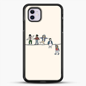 Stranger Things The Acrobats And The Fleas iPhone 11 Case, Black Rubber Case | JoeYellow.com