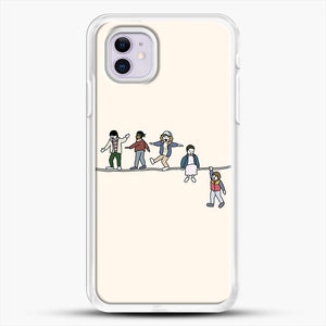 Stranger Things The Acrobats And The Fleas iPhone 11 Case, White Rubber Case | JoeYellow.com