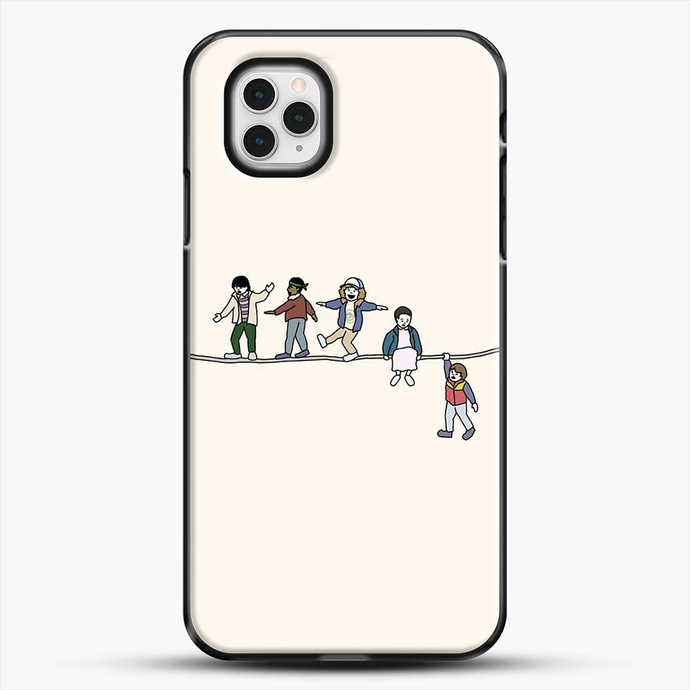 Stranger Things The Acrobats And The Fleas iPhone 11 Pro Case, Black Plastic Case | JoeYellow.com