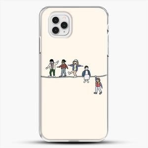 Stranger Things The Acrobats And The Fleas iPhone 11 Pro Case, White Plastic Case | JoeYellow.com