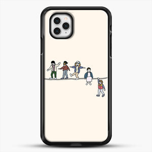 Stranger Things The Acrobats And The Fleas iPhone 11 Pro Case, Black Rubber Case | JoeYellow.com