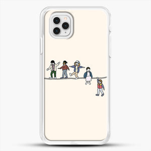 Stranger Things The Acrobats And The Fleas iPhone 11 Pro Case, White Rubber Case | JoeYellow.com
