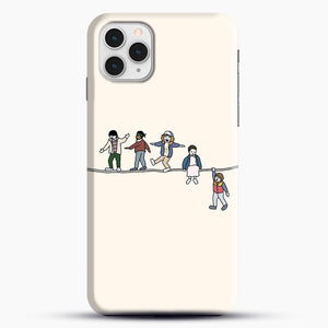 Stranger Things The Acrobats And The Fleas iPhone 11 Pro Case, Black Snap 3D Case | JoeYellow.com