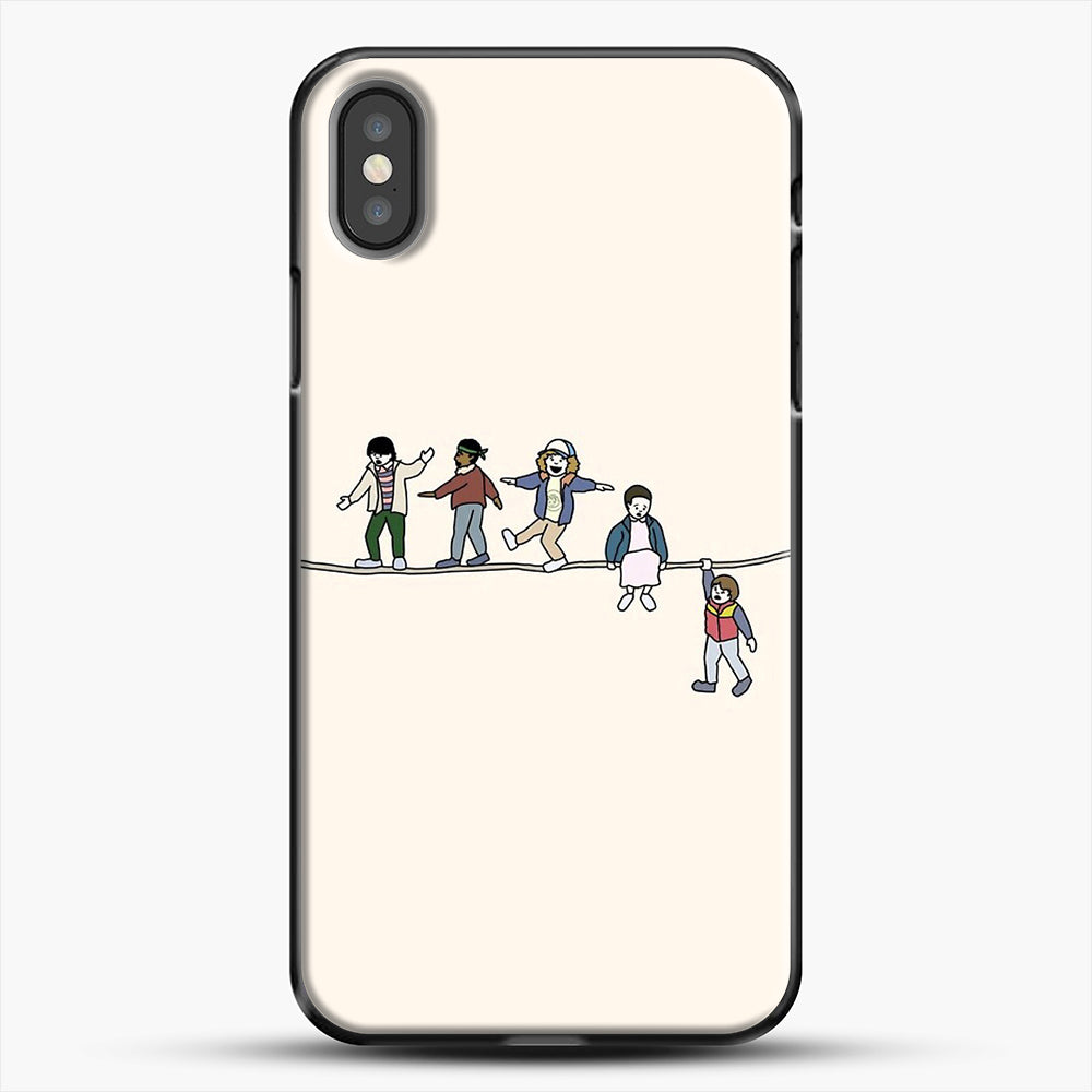 Stranger Things The Acrobats And The Fleas iPhone X Case, Black Plastic Case | JoeYellow.com