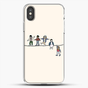 Stranger Things The Acrobats And The Fleas iPhone X Case, White Plastic Case | JoeYellow.com