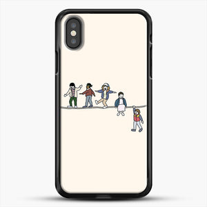 Stranger Things The Acrobats And The Fleas iPhone X Case, Black Rubber Case | JoeYellow.com