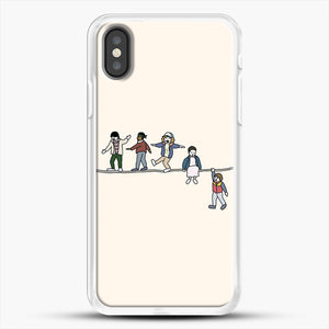 Stranger Things The Acrobats And The Fleas iPhone X Case, White Rubber Case | JoeYellow.com