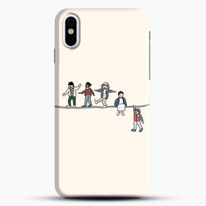 Stranger Things The Acrobats And The Fleas iPhone X Case, Black Snap 3D Case | JoeYellow.com
