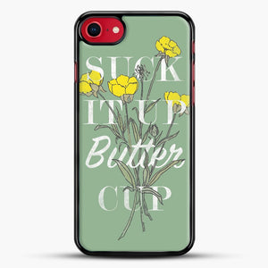 Suck It Up Buttercup iPhone 7 Case, Black Rubber Case | JoeYellow.com