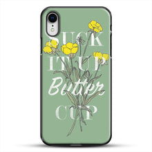 Load image into Gallery viewer, Suck It Up Buttercup iPhone XR Case, Black Plastic Case | JoeYellow.com