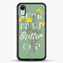 Load image into Gallery viewer, Suck It Up Buttercup iPhone XR Case, Black Rubber Case | JoeYellow.com