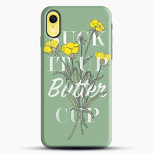 Load image into Gallery viewer, Suck It Up Buttercup iPhone XR Case, Black Snap 3D Case | JoeYellow.com