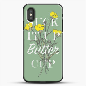 Suck It Up Buttercup iPhone XS Case, Black Plastic Case | JoeYellow.com