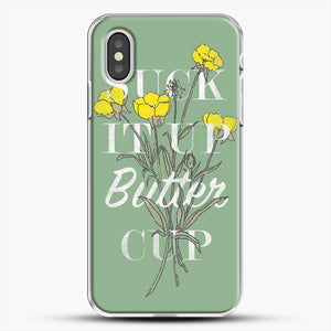 Suck It Up Buttercup iPhone XS Case, White Plastic Case | JoeYellow.com