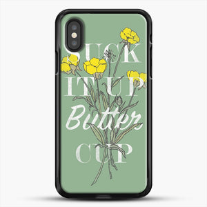 Suck It Up Buttercup iPhone XS Case, Black Rubber Case | JoeYellow.com