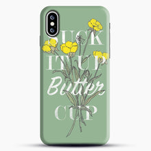 Load image into Gallery viewer, Suck It Up Buttercup iPhone XS Case, Black Snap 3D Case | JoeYellow.com