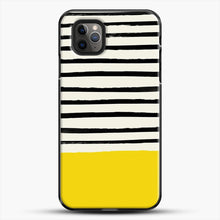 Load image into Gallery viewer, Sunshine X Stripes iPhone 11 Pro Max Case, Black Plastic Case | JoeYellow.com