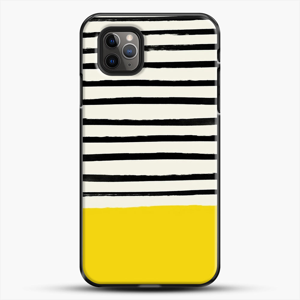 Sunshine X Stripes iPhone 11 Pro Max Case, Black Plastic Case | JoeYellow.com