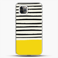 Load image into Gallery viewer, Sunshine X Stripes iPhone 11 Pro Max Case, White Plastic Case | JoeYellow.com
