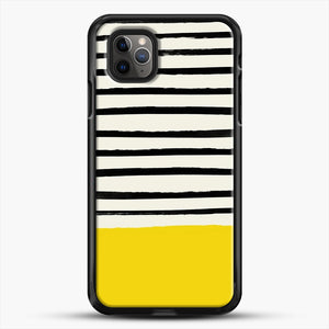 Sunshine X Stripes iPhone 11 Pro Max Case, Black Rubber Case | JoeYellow.com