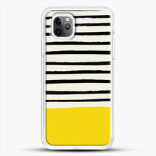 Load image into Gallery viewer, Sunshine X Stripes iPhone 11 Pro Max Case, White Rubber Case | JoeYellow.com