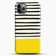 Load image into Gallery viewer, Sunshine X Stripes iPhone 11 Pro Max Case, Black Snap 3D Case | JoeYellow.com