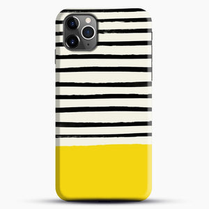 Sunshine X Stripes iPhone 11 Pro Max Case, Black Snap 3D Case | JoeYellow.com