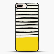 Load image into Gallery viewer, Sunshine X Stripes iPhone 7 Plus Case, Black Plastic Case | JoeYellow.com