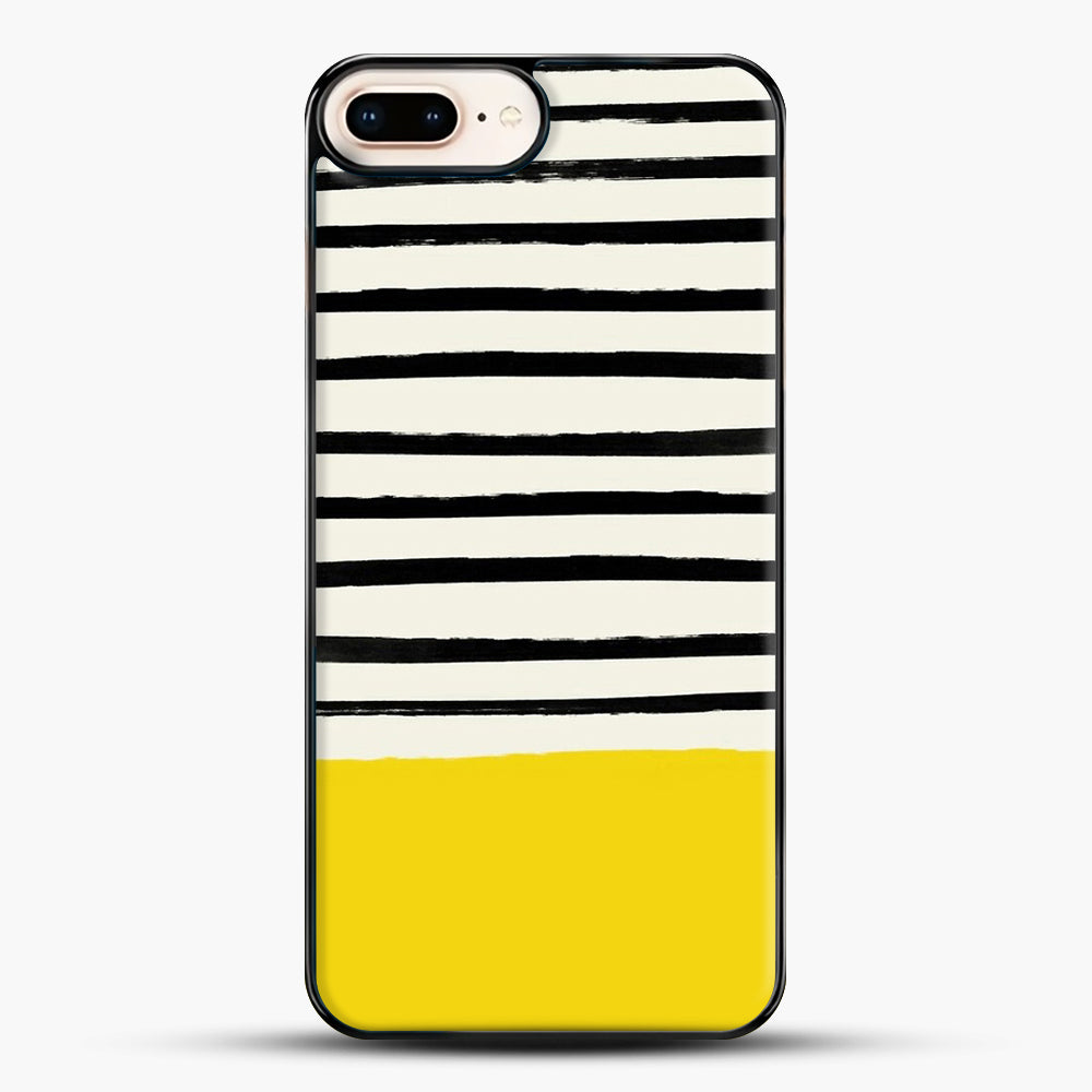Sunshine X Stripes iPhone 7 Plus Case, Black Plastic Case | JoeYellow.com