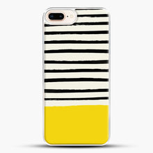 Load image into Gallery viewer, Sunshine X Stripes iPhone 7 Plus Case, White Plastic Case | JoeYellow.com