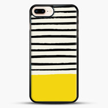 Load image into Gallery viewer, Sunshine X Stripes iPhone 7 Plus Case, Black Rubber Case | JoeYellow.com