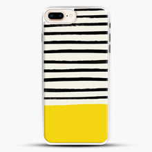 Load image into Gallery viewer, Sunshine X Stripes iPhone 7 Plus Case, White Rubber Case | JoeYellow.com