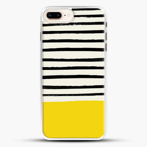 Sunshine X Stripes iPhone 7 Plus Case, White Rubber Case | JoeYellow.com