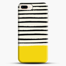 Load image into Gallery viewer, Sunshine X Stripes iPhone 7 Plus Case, Black Snap 3D Case | JoeYellow.com