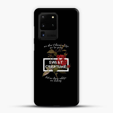 Sweet Creature Black Background Samsung Galaxy S20 Ultra Case, Snap 3D Case | JoeYellow.com